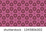 pattern with abstract illusion... | Shutterstock .eps vector #1345806302