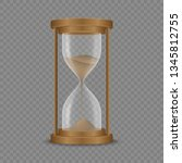 sand hourglass clock isolated... | Shutterstock .eps vector #1345812755