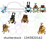 concert of the summer insect. | Shutterstock .eps vector #1345820162