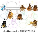 concert of the summer insect. | Shutterstock .eps vector #1345820165
