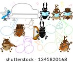 concert of the summer insect. | Shutterstock .eps vector #1345820168