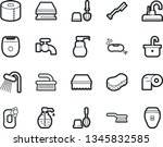 bold stroke vector icon set  ... | Shutterstock .eps vector #1345832585