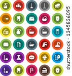 white solid icon set  soap... | Shutterstock .eps vector #1345836095