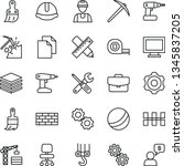 thin line vector icon set  ... | Shutterstock .eps vector #1345837205