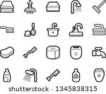 bold stroke vector icon set  ... | Shutterstock .eps vector #1345838315