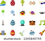 color flat icon set   easter... | Shutterstock .eps vector #1345840745