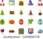 color flat icon set   easter... | Shutterstock .eps vector #1345840778