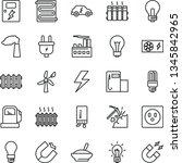 thin line vector icon set  ... | Shutterstock .eps vector #1345842965
