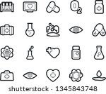 bold stroke vector icon set  ... | Shutterstock .eps vector #1345843748