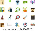 color flat icon set   elections ... | Shutterstock .eps vector #1345845725