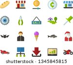 color flat icon set   holy... | Shutterstock .eps vector #1345845815