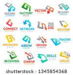 business identity arrow or... | Shutterstock .eps vector #1345854368