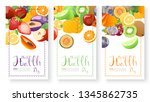 fruits collection for world... | Shutterstock .eps vector #1345862735
