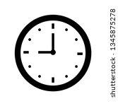 nine o'clock icon outline vector | Shutterstock .eps vector #1345875278