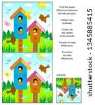 visual puzzle with birdhouses ... | Shutterstock .eps vector #1345885415