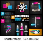infographic design templates...   Shutterstock . vector #134588852