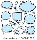 comic speech bubbles and... | Shutterstock .eps vector #1345891322