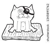 cartoon doodle illustration of... | Shutterstock .eps vector #1345895762