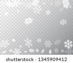 winter snowflakes border cool... | Shutterstock .eps vector #1345909412