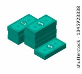 dollars bundles  money  dollar  ... | Shutterstock .eps vector #1345923338