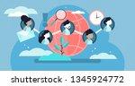 social community vector... | Shutterstock .eps vector #1345924772