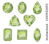 precious gemstones  crystals of ... | Shutterstock .eps vector #1345932092