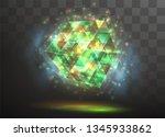 3d vector crystal on a... | Shutterstock .eps vector #1345933862