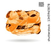 orange brush stroke and texture.... | Shutterstock .eps vector #1345965878
