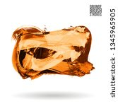 orange brush stroke and texture.... | Shutterstock .eps vector #1345965905
