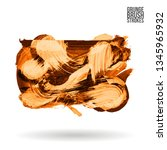 orange brush stroke and texture.... | Shutterstock .eps vector #1345965932