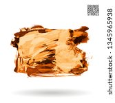 orange brush stroke and texture.... | Shutterstock .eps vector #1345965938