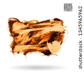orange brush stroke and texture.... | Shutterstock .eps vector #1345965962