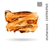 orange brush stroke and texture.... | Shutterstock .eps vector #1345965965