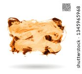 orange brush stroke and texture.... | Shutterstock .eps vector #1345965968