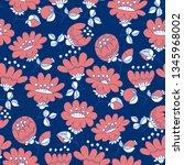 vintage blossom hand drawn...   Shutterstock .eps vector #1345968002