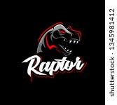 Raptor Tyrannosaurus or T-rex vector logo template