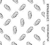 pos terminal icon seamless... | Shutterstock .eps vector #1345989668