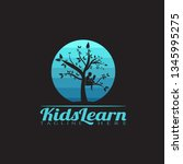children learning vector logo... | Shutterstock .eps vector #1345995275