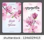 blooming beautiful magnolia... | Shutterstock .eps vector #1346029415