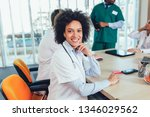 team of multiracial doctors at...   Shutterstock . vector #1346029562
