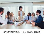 group of young business people ... | Shutterstock . vector #1346031035
