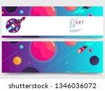 galaxy banner set background... | Shutterstock .eps vector #1346036072