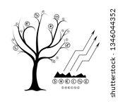 money tree. the monetary units... | Shutterstock .eps vector #1346044352