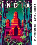 Travel Poster About India With...