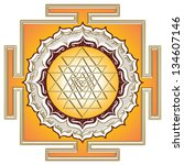 shri yantra   cosmic energy...   Shutterstock . vector #134607146