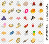 tasty dishes icons set.... | Shutterstock .eps vector #1346092652