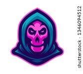 grim reaper mascot logo vector... | Shutterstock .eps vector #1346094512