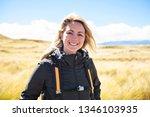 the successful woman mountain...   Shutterstock . vector #1346103935