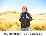 the successful woman mountain...   Shutterstock . vector #1346103962