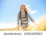 the successful woman mountain...   Shutterstock . vector #1346103965